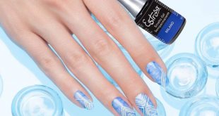 Do you like blue and want a perfect manicure for every occasion? Try the nail a