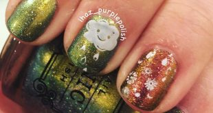 Hey friends! So today it rained snow  and I was inspired to do this mani! Added