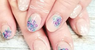Hydrangea nail ♪ It's almost in full bloom ♪