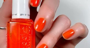 """New  Glazed Days Collection! Wearing 'Confection Affection,' a """"sweet orange."""" T"""