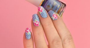 New, tropical mani  Products used: .  Born Pretty holographic stamping polish