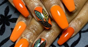 Still Fallin out over these fall nails. I used 5 different shades of orange here