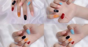 Summer is here. Make a colorful nail set right away . . Gel paint 90k / set Very gel polish