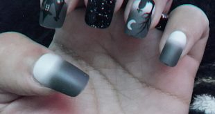 spooky nails  —