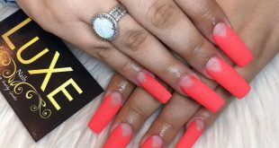 Beautiful matte coral long claws