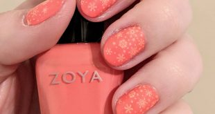 Coral snowflakes! The best of summer and winter together?  Products used: - Base