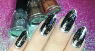 Dry brush nail design using the shades Fairy dust, Ethereal, and Lumina from  Tr