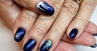 Gorgeous blue winter nails   Hand drawn icicles and snowflakes . . . . .