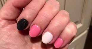 Heading South this winter?  How about combining summery nails with a dark statem