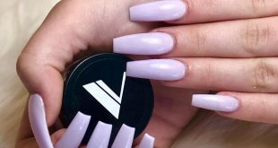 Simple but Gorgeous Lilac Valentino  ...this Acrylic powder goes on like butter