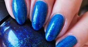 by is a blue jelly with mini glitter of the same color, of my favorites because