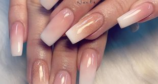 Beautiful pink & white ombre  follow me :   working at: Alexiasnailsoficial