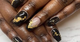 Dip nails only Encapsulated art Gold foil . Shoutout to  for letting me always h