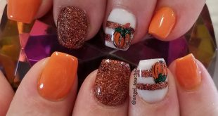 Fall Cuteness  Color acrylic and custom blended glitter acrylic made with glitte