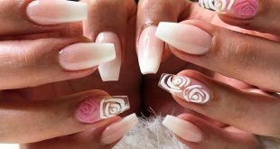 It's a French fade type of day! Loving these hand painted matte roses!