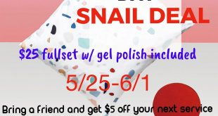 Last day for this deal is Saturday 6/1 BOOK THOSE APPOINTMENTS NOW