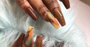 Nails done with love  fall colors           thank you