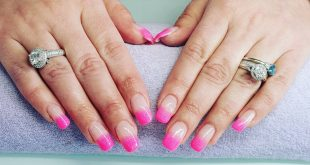 Ombre pink nails another hard gel set/infill time!