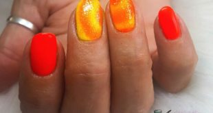 Pigmented orange and yellow ombré for  today