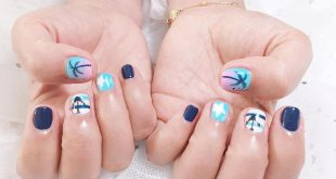 What about short nails? Still pretty, still very ear-piercing and keep up with the trend of summer nails n