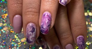 Amethyst inspired gel mani on my good friend.  she's been getting acrylics for a