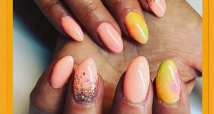 Beautiful peach called  from  & gel stamping from
