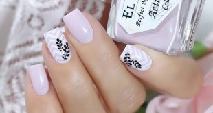 Delicate pink shade from El Corazon with the smallest shimmer ... 2 layers + top ... El