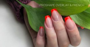 Eclair ProShape overlay & french for    Products used  Nail prep / primer  Eclai