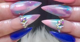 Fun Cotton Candy Stiletts . . . .         ChicsHairandNails  559-374-5550 Call m