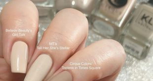 Here is the other swatch comparison I did, this time with Tell Her She's Stellar