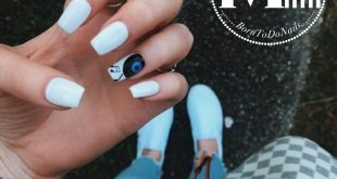 Life=Nails + Music  Trendy white nails for summer !!!