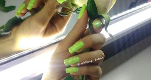 My fingernails already asked for a renewal .. and I released this green enamel well power