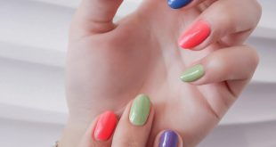 Rainbow nails are the biggest nail trend for spring. Stay tuned to see how can y