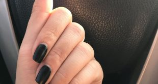 """Simple and cute like my girl   matte black nails using  """"Black To Black"""" and  ma"""