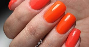 Trending orange-grapefruit nails, the most popular colors in it