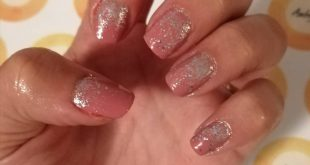 Dusky pink and silver glitter