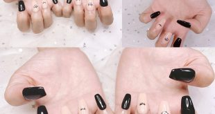IBD gel nail with Ballerina nail form (also known as coffin shape) in  Laying