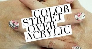 In between nail appointments? Color street can go over acrylics to give you a fr
