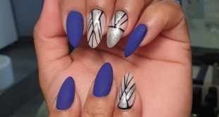 Matte with nail art