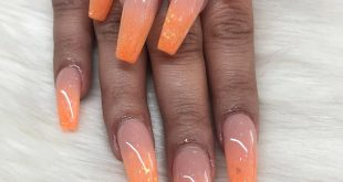 Orange ombré set done by Mary  • • • • • •