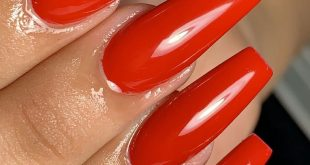 Red nails  I do care
