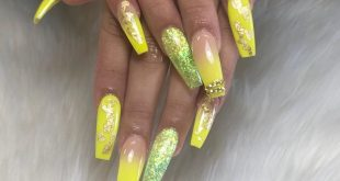 This Yellow Ombré Tho . . . .         ChicsHairandNails  559-374-5550 Call me fo