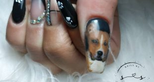 Would you dare to wear your pet on your nails? I DO! freehand drawing