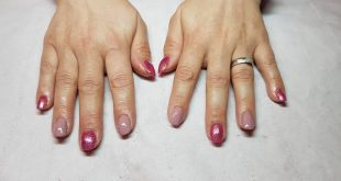 Acrylic infills with gel overlay  love the sparkle