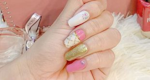The best color combination for that girly look: pink, gold and white! Thank you