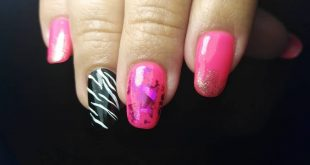 Glamorous manicure for