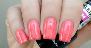 Playful coral in shade 3526 from)) Muted neon, I would call it that))