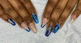 Glam blue and gold set