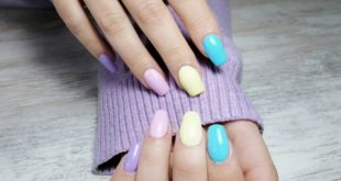 We do not lose the pastel colors, which always look good, whatever the season