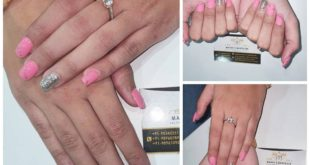 Beautiful Pink nails done by  . BOOK AN APPOINTMENT NOW :- Booking are open for